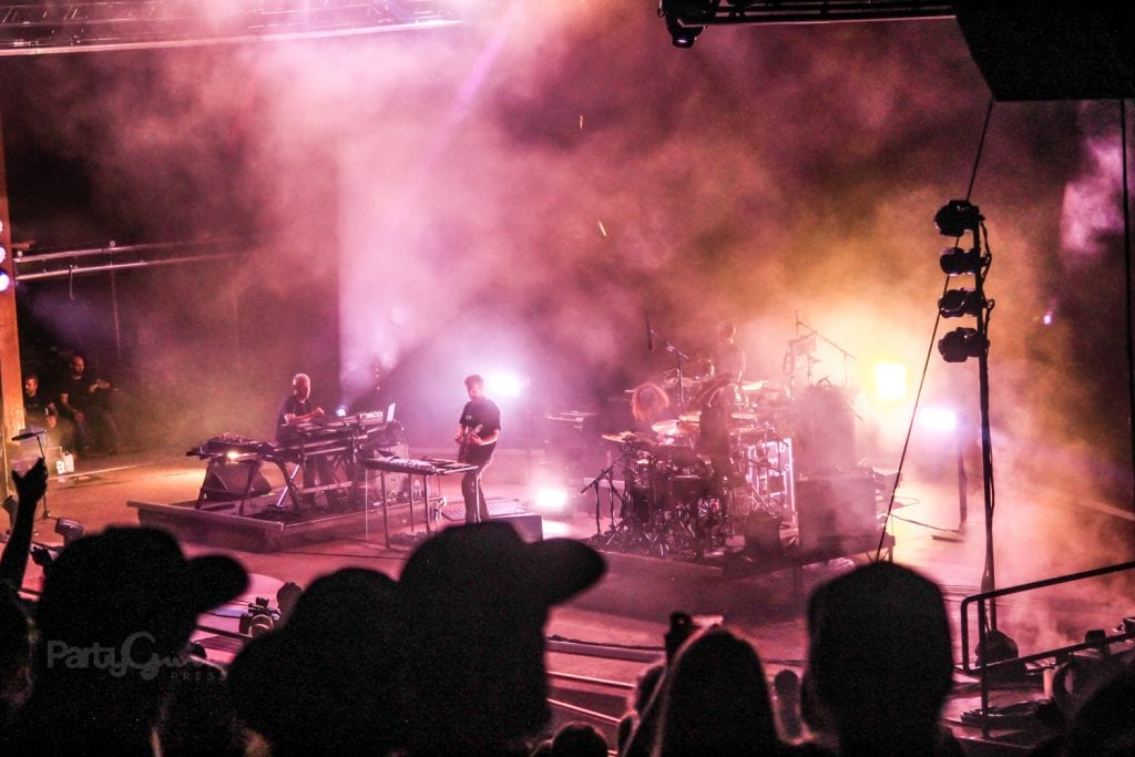 STS9 playing in the rain