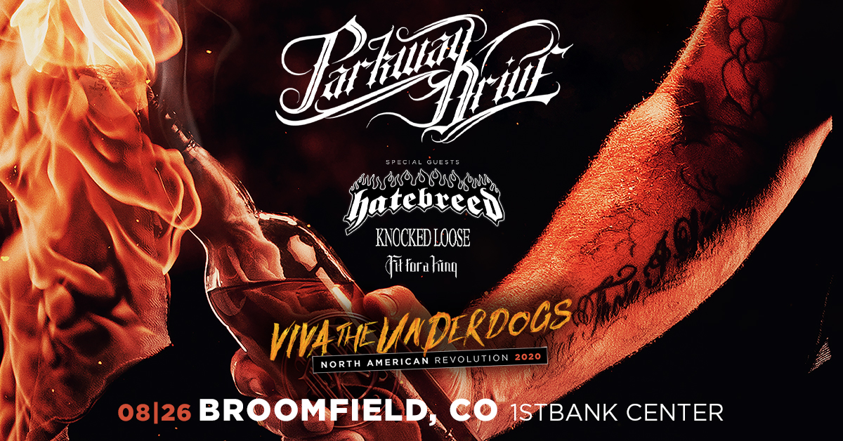 Parkway Drive, 1st Bank Center, Broomfield, Colorado