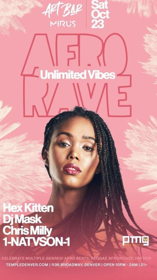 Unlimited Vibes: Afro Rave, Mirus Art Bar, Denver, CO, USA